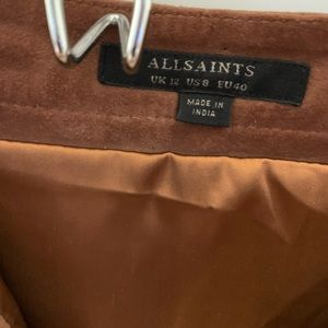 All Saints Skirts - All Saints Suede Skirt